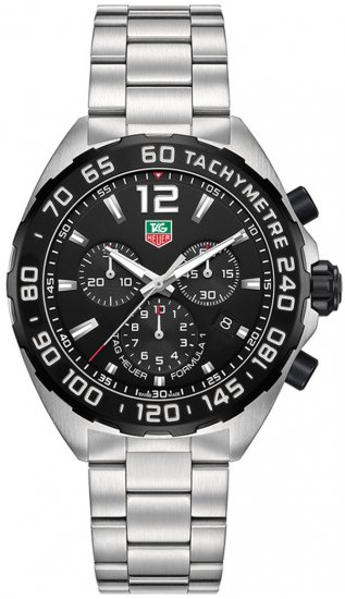 Tag Heuer Formula 1 Chronograph Black Dial Stainless Steel Men\'s Watch CAZ1110.BA0877