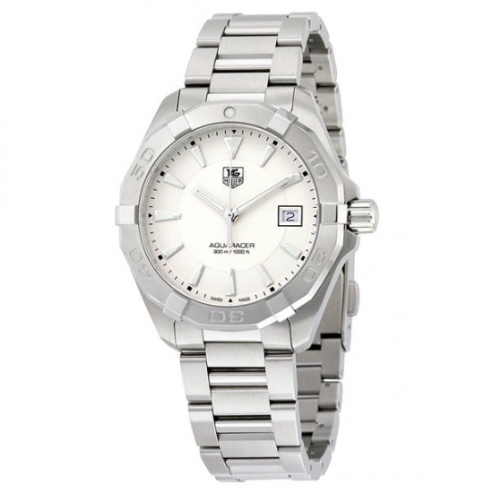 Tag Heuer Aquaracer Silver Dial Stainless Steel Men\'s Watch WAY1111.BA0910