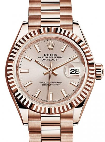 Rolex Oyster Perpetual Lady-Datejust 28 279175 Everose Gold Fake