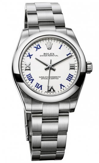 Rolex Oyster Perpetual 31mm White Lacquer Dial 177200 wblro Replica