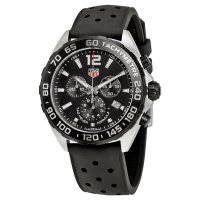 Tag Heuer Formula 1 Chronograph Black Dial Black Rubber Men's Watch CAZ1010.FT8024