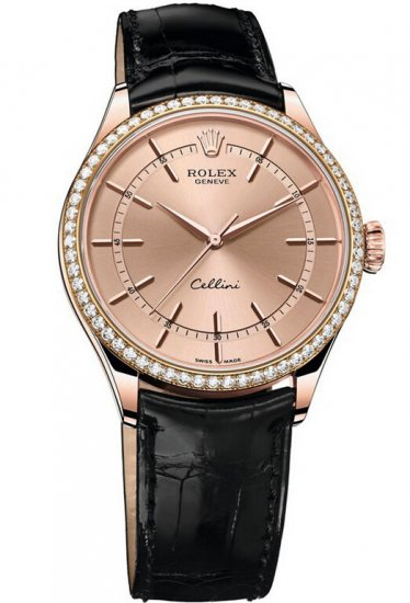 Rolex Cellini Time Everose Gold 50705RBR Fake
