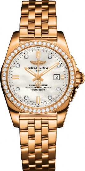 Breitling Galactic 29 H7234853/A792/791H Rose Gold Watch