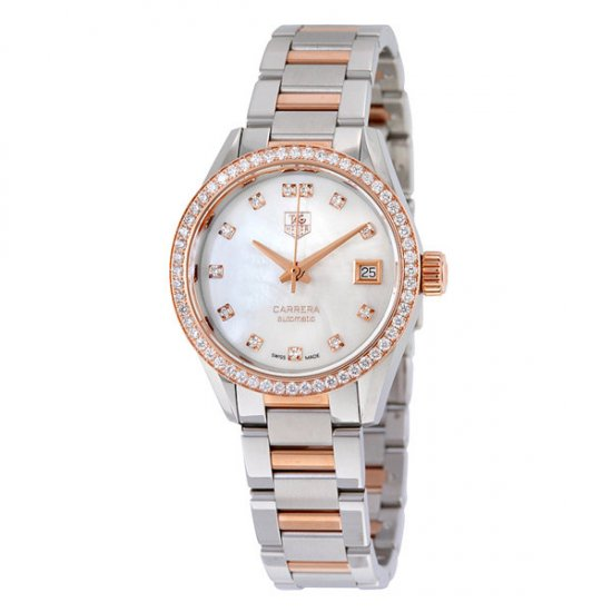 Tag Heuer Carrera Mother of Pearl Dial Ladies Watch WAR2453.BD0777