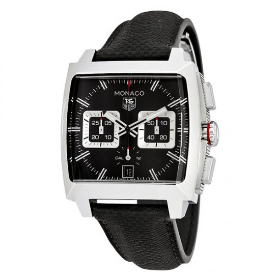 Tag Heuer Monaco Black Opalin Dial Automatic Men\'s Chronograph Watch CAL2113.FC6536