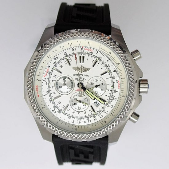 Breitling Bentley Motors T Rubber Strap White Dial