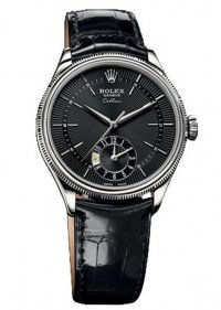 Rolex Cellini Dual Time White Gold Watch 50529 bkbk Replica