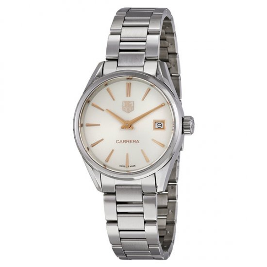 Tag Heuer Carrera Silver Dial Stainless Steel Ladies Watch WAR1312.BA0778