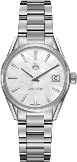 Tag Heuer Carrera White Mother of Pearl Dial Ladies Quartz Watch WAR1311.BA0778