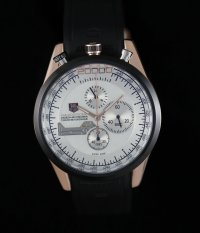 TAG Heuer Mikrogirder 20000 Chronograph Rose Gold Case White Dial