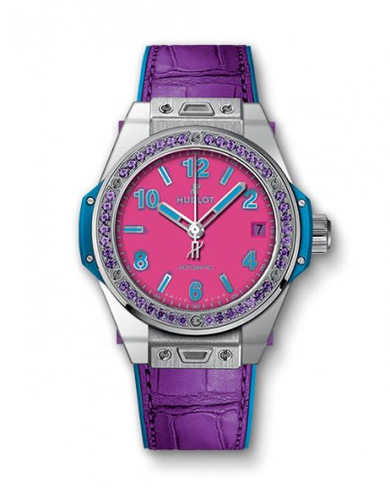 Hublot Big Bang One Click Pop Art Steel Purple 465.SV.7379.LR.1205.POP16