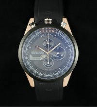 TAG Heuer Mikrogirder 20000 Chronograph Rose Gold Case Black Dial