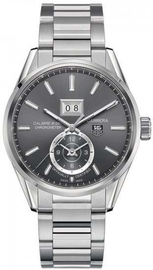 Tag Heuer Carrera Calibre 8 GMT Grey Dial Stainless Steel Men\'s Watch WAR5012.BA0723