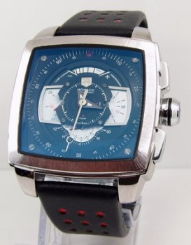 TAG Heuer Monaco Mens CAW2100 Blue and White Replica Watch