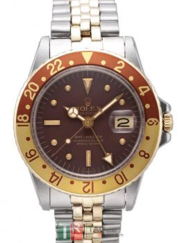 ROLEX GMT-MASTER II 1675B Brown Dial Replica Automatic Watch