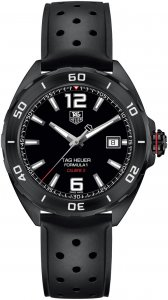 Tag Heuer Formula 1 Automatic Black Dial Black Rubber Men's Watch WAZ2115.FT8023