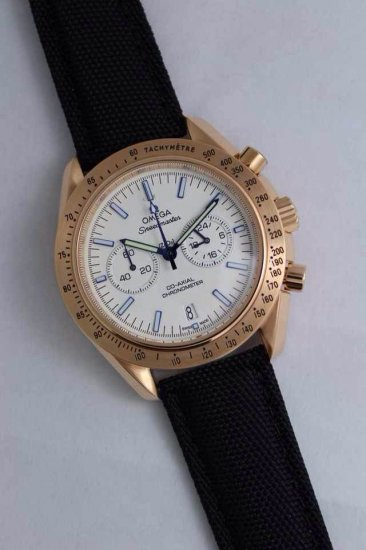 OMEGA SPEEDMASTER CO-AXIAL GMT CHRONOGRAPH 321.90.44.52.01.001 Gold Case White Dial