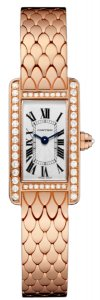Cartier Tank Americaine Silvered Flinque Dial Ladies Watch WB710012