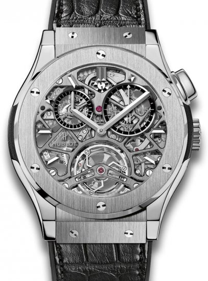 Hublot Classic Fusion Tourbillon Skeleton Titanium Watch Replica