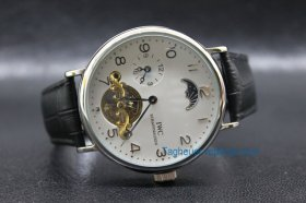 IWC FA Jones Schaffhausen Tourbillon White Dial Men Replica Watc