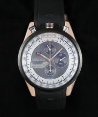 TAG Heuer Mikrogirder 20000 Chronograph Rose Gold Case Black and White Dial