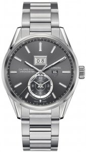 Tag Heuer Carrera Calibre 8 GMT Grey Dial Stainless Steel Men's Watch WAR5012.BA0723