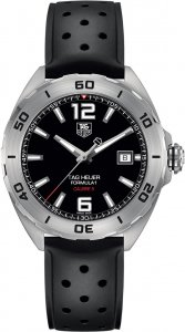Tag Heuer Formula 1 Automatic Black Dial Black Rubber Men's Watch WAZ2113FT8023