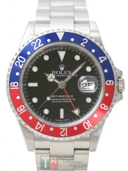 Replica ROLEX GMT-MASTER II 16710 Black Dial Men's Watch