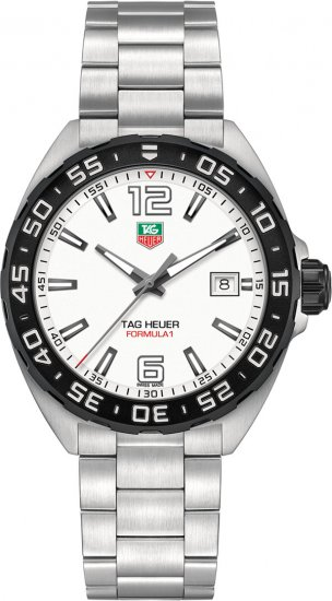 Tag Heuer Formula 1 White Dial Men\'s Watch WAZ1111.BA0875