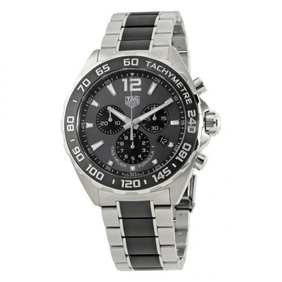 Tag Heuer Formula 1 Chonograph Grey Dial Men\'s Watch CAZ1011.BA0843