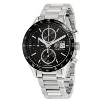 Tag Heuer Carrera Black Dial Chronograph Stainless Steel Automatic Men's Watch CV201AJ.BA0727