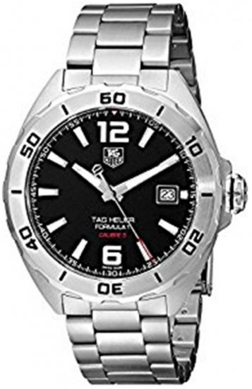 Tag Heuer Formula 1 Automatic Black Dial Stainless Steel Men\'s Watch WAZ2113.BA0875