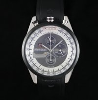 TAG Heuer Mikrogirder 20000 Chronograph Black Bazel Black and White Dial