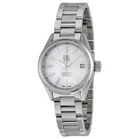 Tag Heuer Carrera Automatic White Mother of Pearl Dial Stainless Steel Ladies Watch WAR2411.BA0776