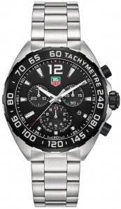 Tag Heuer Formula 1 Chronograph Black Dial Stainless Steel Men's Watch CAZ1110.BA0877