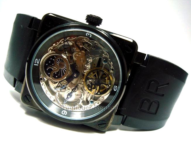 BELL ROSS BR02 MOON PHASE TOURBILLION SEE ENGINE THRU SWISS QUAL