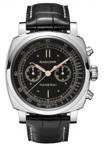 Panerai Radiomir 1940 Chronograph Black Dial Black Strap Men\'s Watch Replica