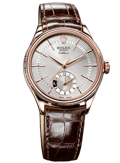 Rolex Cellini Dual Time Everose Gold Watch 50525 sbr Replica