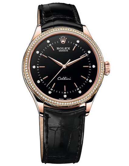 Rolex Cellini Time 50605RBR Rose Gold & Diamonds Fake