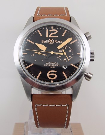 Replica Bell & Ross Vintage 126 Heritage Chronograph BR126-94-SC