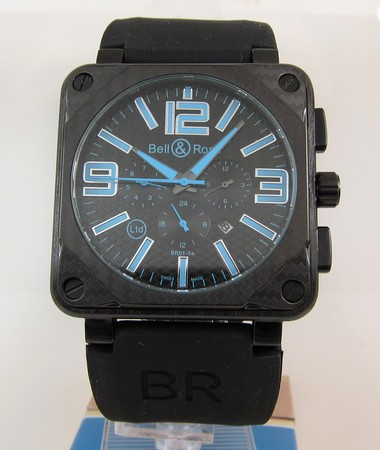 Replica Bell & Ross BR 01-94 CARBON Aviation Black Chronograph