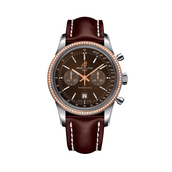 Breitling Transocean Chronograph 38 Rose Gold U4131053/Q600/431X/A18BA.1 Watch
