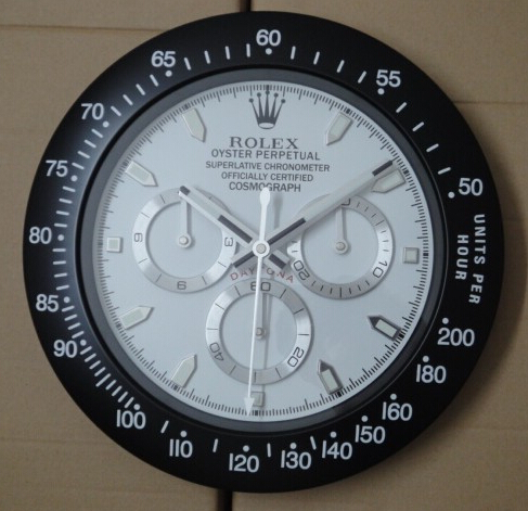 Rolex Oyster Perpetual Daytona Wall Clock Replica with White Dial
