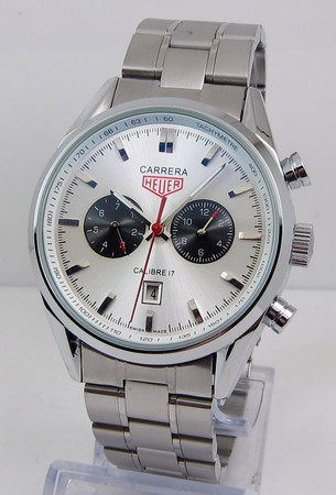 Tag Heuer Carrera Calibre 17 Automatic Chronograph Jack Heuer Edition White Steel bracelet