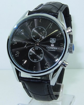 Tag Heuer Carrera Heritage Calibre 16 Automatic Chrongraph Black Watch