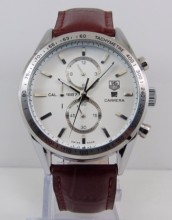 Tag Heuer Carrera Calibre 1887 Automatic Chrongraph White