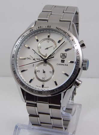 Tag Heuer Carrera CALIBRE 1887 AUTOMATIC CHRONOGRAPH White Steel bracelet