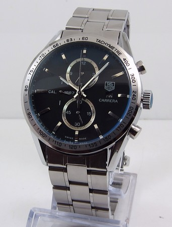 Tag Heuer Carrera CALIBRE 1887 AUTOMATIC CHRONOGRAPH Black steel bracelet