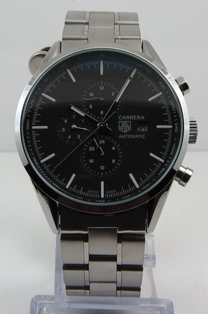 Tag Heuer Carrera Automatic Chrongraph Black Steel bracelet
