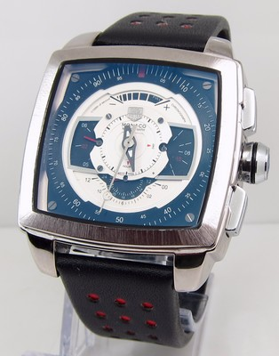 TAG Heuer Monaco Mens CAW2100 Blue and White Watch
